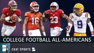 College Football 2019 Preseason All-American Teams Ft. Trevor Lawrence & 1 Michigan Player