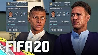 SIGNING NEYMAR & MBAPPE IN FIFA 20 CAREER MODE!!!