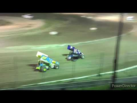 Great Lakes Super Sprints A-Main - I-96 Speedway - 7-2-2021 - dirt track racing video image