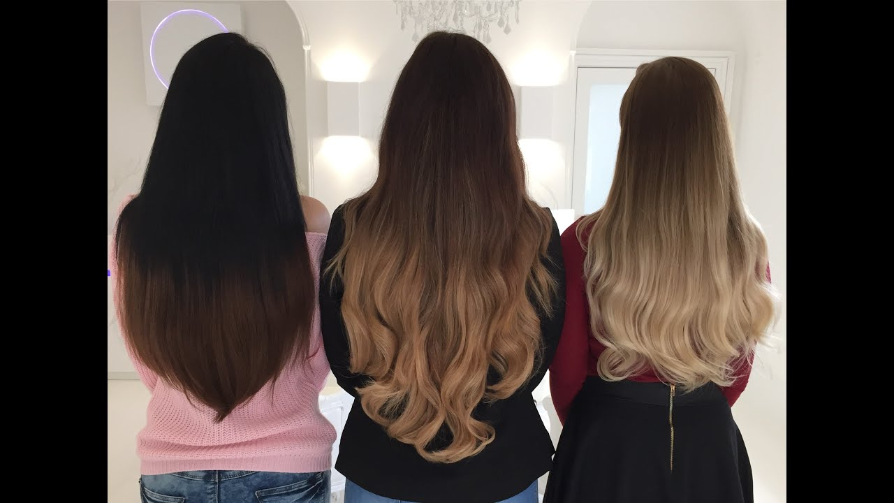 Ombre Clip In Hair Extensions Foxy Locks Ombre Shades Audiomania