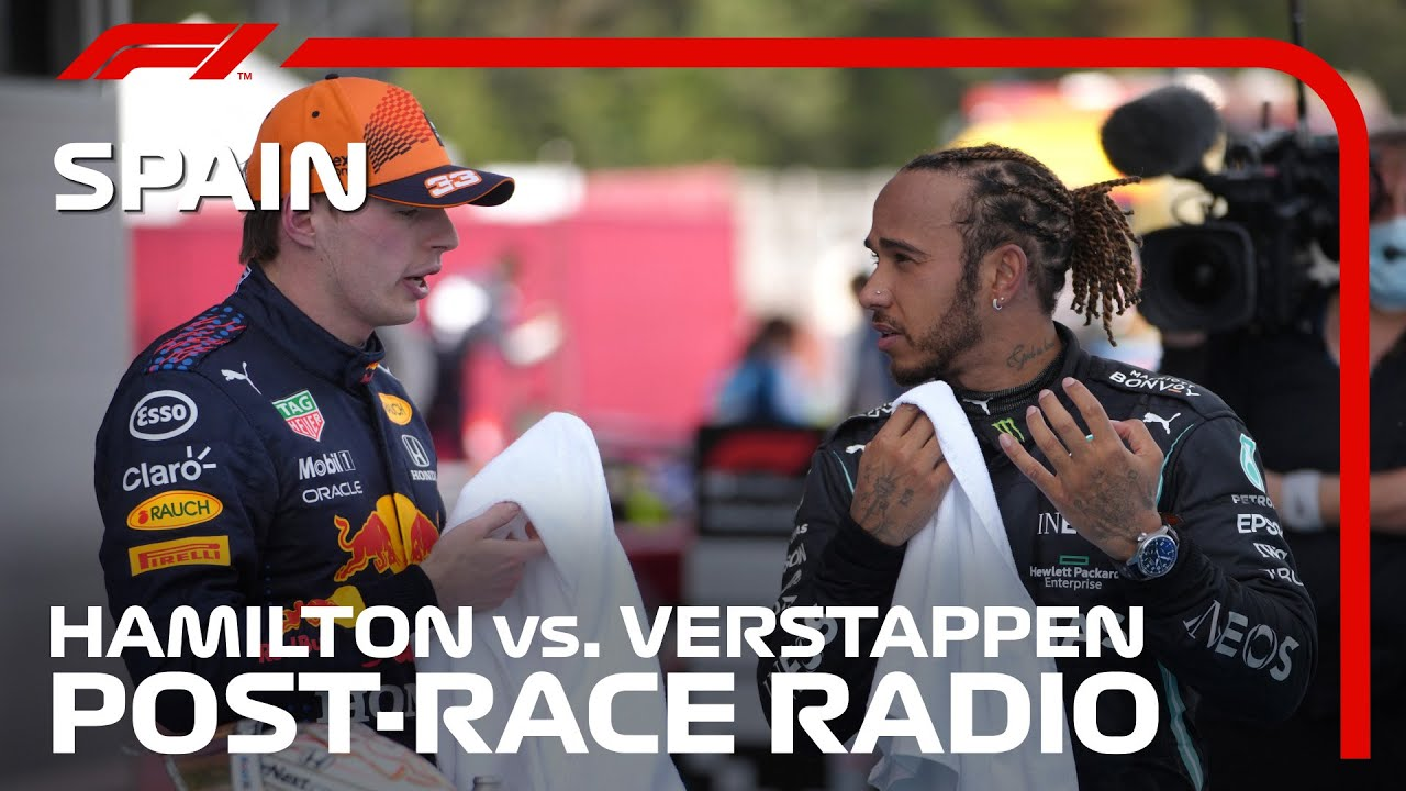 Hamilton & Verstappen's Post-Race Radio Reaction | 2021 Spanish Grand Prix