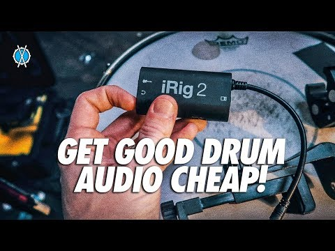 Get Great Drum Audio Cheap! // iRig + You In Ear mix