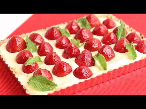 Lemon Curd Strawberry Tart Recipe - Laura Vitale - Laura in the Kitchen Episode 792 - UCNbngWUqL2eqRw12yAwcICg