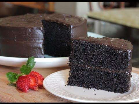 Homemade Delicious Especially Dark Chocolate Cake - The Best Cake Recipe from Hersheys