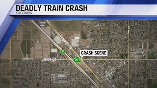 Man killed by a train after driving around crossing guards, say police