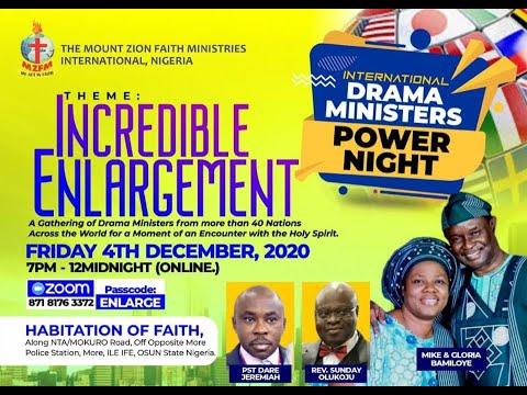 DRAMA MINISTERS POWER NIGHT DECEMBER 2020 -