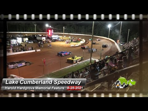 Lake Cumberland Speedway - Harold Hardgrove Memorial Feature - 8/28/2021 - dirt track racing video image