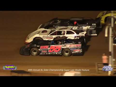 9-26 21 49th Annual AL. State Championship Super Late Model Feature @ East Alabama Motor Speedway - dirt track racing video image