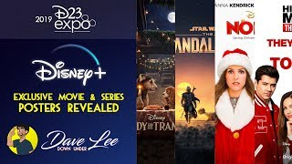 DISNEY+ Posters Revealed (STAR WARS MANDALORIAN, LADY & THE TRAMP, NOELLE) | D23 Expo 2019