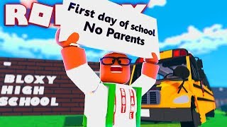 My First Day Of School With NO PARENTS (Roblox Bloxburg Pt.  4)