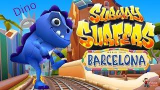 Subway Surfers World Tour Barcelona 2019 - Dino Facebook Special Walkthrough Gameplay