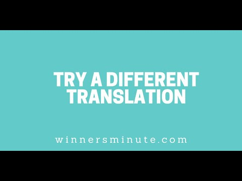 Try a Different Translation // The Winner's Minute With Mac Hammond