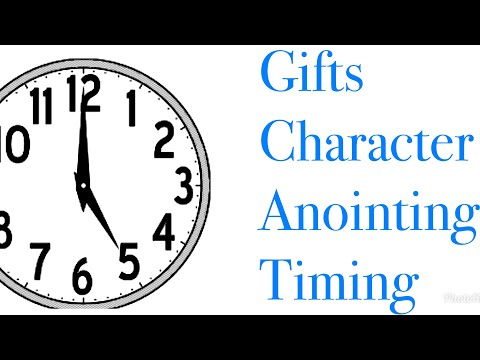Gifts - Character - Anointing - Timing