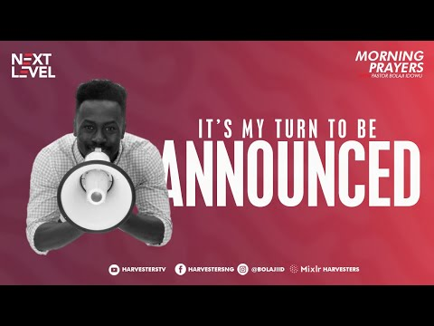It's My Turn To Be Announced  Pst Bolaji Idowu  22nd April 2021
