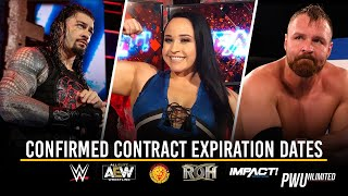 Confirmed Wrestler Contract Expiration Dates: WWE, AEW, NJPW, ROH, IMPACT & More (August 2019)