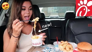 Chick Fil A NEW Mac n Cheese Mukbang!