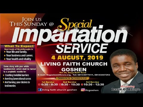 SPECIAL IMPARTATION SERVICE 2ND SERVICE AUGUST 04, 2019