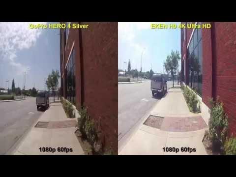 GoPro Hero 4 silver vs EKEN H9 4k Ultra HD Action camera (part 2)