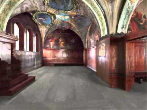 Modello tridimensionale della Cappella dei Notai.