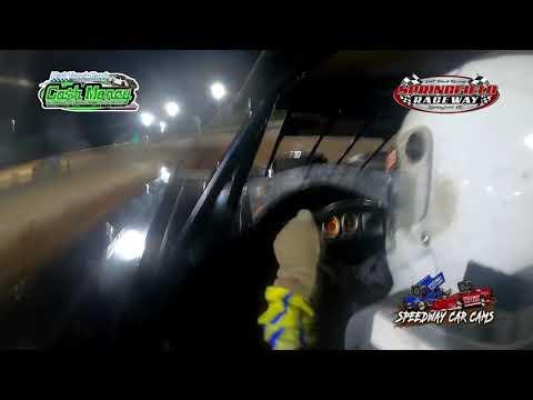 #49 Justin Wells - Cash Money Late Model - 9-18-2021 Springfield Raceway - In Car Camera - dirt track racing video image