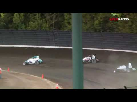 It was a long wild night for the AMSOIL INC. USAC/CRA Sprint Cars at Calistoga Speedway on Saturday night. Race was cut short due to curfew. Watch full event on FloRacing.com - dirt track racing video image