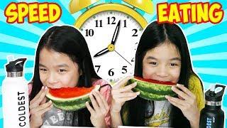 SPEED EATING FOOD CHALLENGE! | Tran Twins