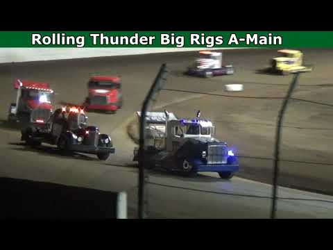 Grays Harbor Raceway, August 21, 2021, Rolling Thunder Big Rigs A-Main - dirt track racing video image