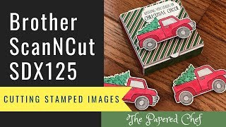 Cutting Stamped Images using the Brother ScanNCut - Ride with Me by Stampin' Up!