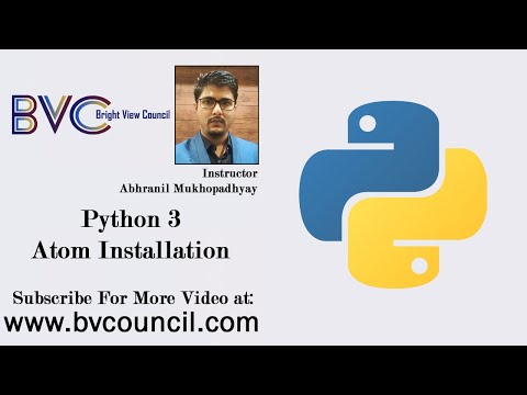 Python 3Tutorial in Bengali - ATOM Installation - Class-4