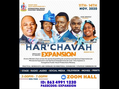 INTERNATIONAL DRAMA MINISTERS WORKSHOP - HAR'CHAVAH [EXPANSION] Day 1