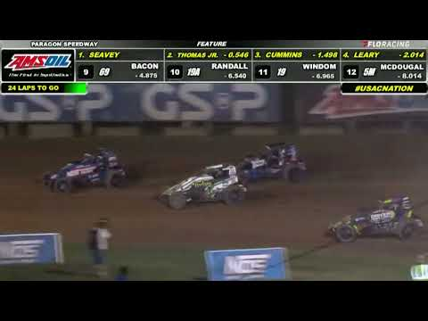 USAC AMSOIL National Sprint Car Highlights   Paragon Speedway   8/22/2021 - dirt track racing video image