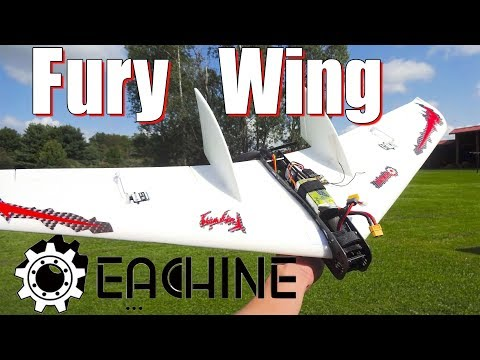 Eachine Fury Wing : Quick Overview and Flight - UC2c9N7iDxa-4D-b9T7avd7g