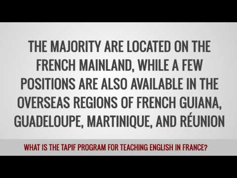 video on the TAPIF program opportunities for TEFL teachers