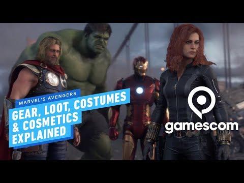Marvel's Avengers Gear, Loot, Costumes & Cosmetics Explained - Gamescom 2019 - UCKy1dAqELo0zrOtPkf0eTMw