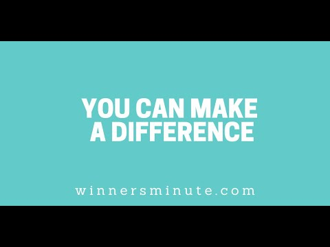 You Can Make a Difference // The Winner's Minute With Mac Hammond