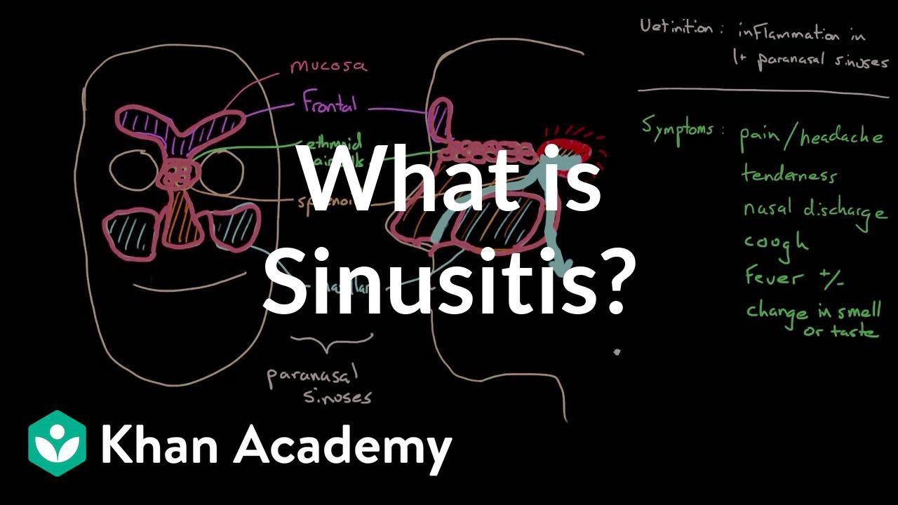 What is sinusitis? | Respiratory system diseases | NCLEX-RN | Khan Academy