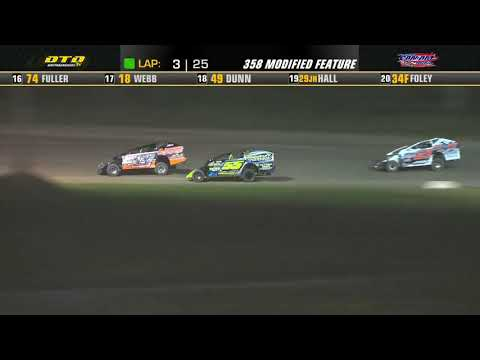 Can-Am Speedway   DIRTcar 358-Modified Feature Highlights   7/23/21 - dirt track racing video image
