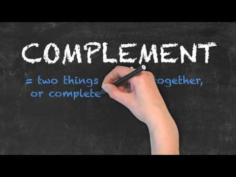 Compliment vs Complement - English Grammar - Teaching Tips
