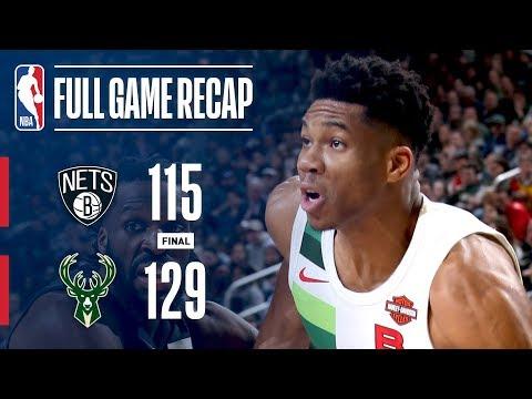 Full Game Recap: Nets vs Bucks | Giannis Leads MIL Past BKN
