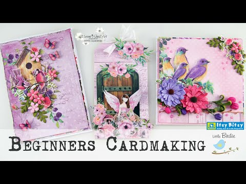 Easy Pastel Cards with Little Birdie ~ ✂️ Maremi's Small Art