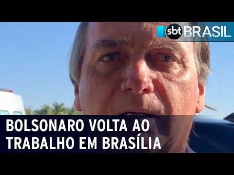 Bolsonaro retorna aos trabalhos após internação | SBT Brasil (19/0