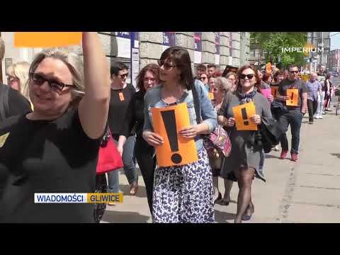 Wiadomości z piątku 26 kwietnia: przemarsz gliwickich nauczycieli, gliwiczanie o strajku nauczcieli