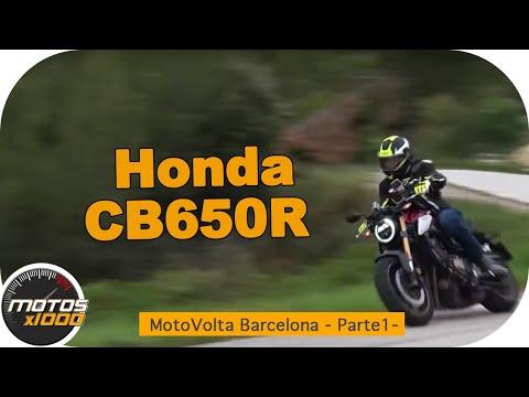 Con la Honda CB650R en la MotoVolta Barcelona | Motosx1000