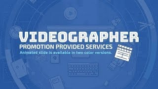 Videographer Promo | After Effects template