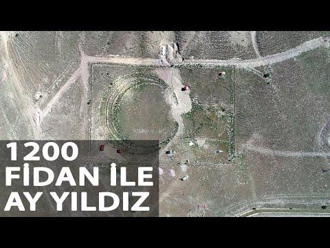 Gazi Uzman Çavuştan 1200 Fidan ile Ay Yıldız
