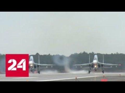 В Бельбеке после реконструкции сел первый военный самолет - Россия 24 photo