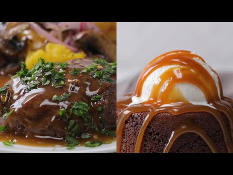 Fancy Sheet Pan Steak & Lava Cake For Only $20 ? Tasty