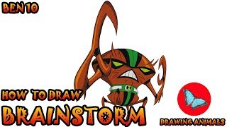 How To Draw Brainstorm from Ben 10 | Drawing Animals