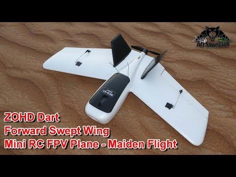 ZOHD Dart Swept Forward Wings FPV Plane Maiden Flight - UCsFctXdFnbeoKpLefdEloEQ