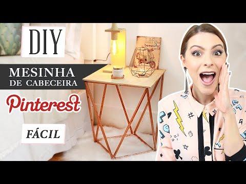 DIY :: Mesinha de Cobre ( Cabeceira ) - Fácil!!! Pinterest Inspired -